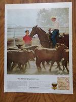 1963 Ethyl Gasoline Ad   Cattle Ranch in Central Arkansas
