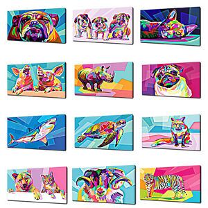 ANIMALS CANVAS PRINT PICTURE WALL ART COLOURFUL HOME DECOR FREE FAST DELIVERY