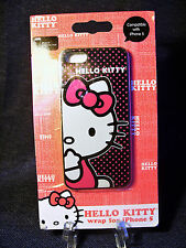 Hello Kitty Polycarbonate Wrap Case iPhone 5 Pink Polka Dots on Black Background