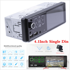 "7-Color 1DIN 4.1"" Bluetooth Car Stereo MP5 Media Player Touch Screen AUX USB TF"
