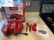 New listing Sunbeam Fortune Cookie Maker Red Counter Top Machine Discontinued Tested!