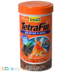 Tetra TetraFin Goldfish Flakes 3.53oz (100g) Fish Food Clean Clear Water Formula