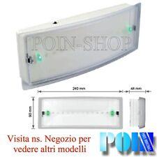 LAMPADA DI EMERGENZA E SEGNALAZIONE LED AUTONOMIA 1,5H Batt. Ni-Cd Fun. SA / SE