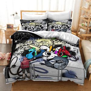 Hip Hop 3D Bedding /Quilt/Duvet/Doona Cover Graffiti SetsGraffiti Pillowcase