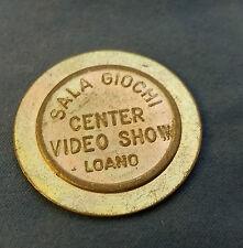 """GETTONE SALA GIOCHI DI LOANO """" VIDEO CETER SHOW  """" VINTAGE  (10)"""