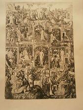 Planche gravure Religion Moyen age La passion du Christ Paris 1490-1500