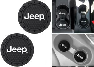 Plasticolor 000652R01 Jeep Logo Cup Holder Coaster Universal New Free Shipping!
