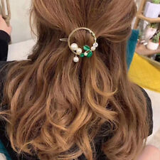 Women's Retro Hair Clips Round Pearl Hairpin Ponytail Barrette Hairgrip Decor YU