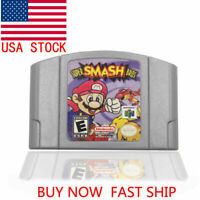 For Nintendo N64 Video Game Cartridge Console Card Super Smash Bros US Stock