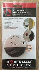Ultra Slim Vibration Alarm Alert Door Glass Break In with Loud 100dB Alarm