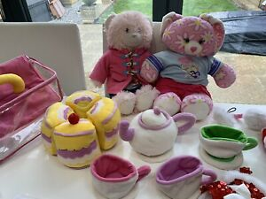 Huge Build A Bear Bundle With Tea Set,  Clothes and Accessories