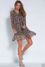 Polyester Floral Dresses for Women with Smocked