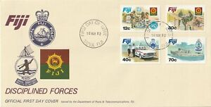 1982 Fiji oversize FDC cover Disciplined Forces