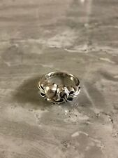 Chrome Hearts Amazing Heart Band Ring 925 Sterling Silver US Size 5