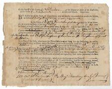 Antique 1789 NORWICH CT Sheriff's Court Manuscript LEGAL DOCUMENT Connecticut