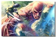 ATTACK ON TITAN 24x36 poster ANIME JAPANESE MANGA SERIES DARK FANTASY GAME COMIC