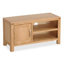 Abbey Light Oak Small TV Stand / Modern Oak TV Cabinet / Solid Wood TV Unit /NEW