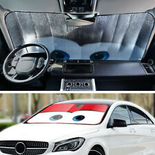 Cartoon Window Foils Eye Windshield Sunshade Car Windscreen Cover Sun Visor Red
