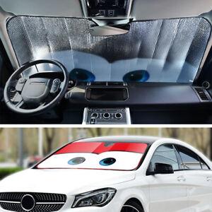 Cartoon Window Foils Eye Windshield Sunshade Car Windscreen Cover Sun Visor Red
