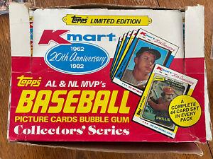 1982 TOPPS MLB Baseball Kmart Collector's Series Vending Box 24 Full Sets Mantle
