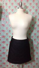 Forever 21 Black Faux Quilted Leather Skirt XS