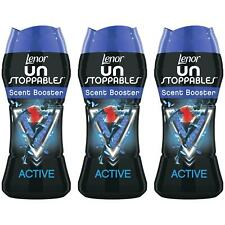 3 x Lenor Unstoppables Active In-Wash Scent Booster Beads - Neutraliser Pellets