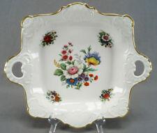 Gerold Porzellan Tettau Dresden Style Floral & Gold Handled Serving Dish