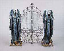 """28-728624 Katherine's Collection LARGE 26"""" Grim Reaper Cemetery Gate Halloween"""