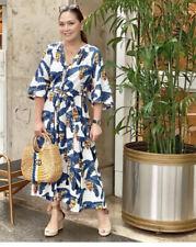 H&M X Desmond & Dempsey Lino Palmera Tropical Vestido Talla M. vendido!