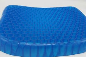 Amazing Gel Support Cushion Comfortable Soft Blue - With Black Washabable Cover