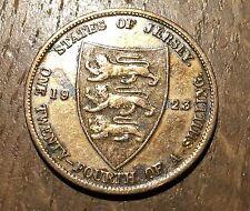 PIECE DE 1/24 SHILLING JERSEY 1923 (100) 72000 EXEMPLAIRES SEULEMENT