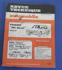 Revue technique  RTA 436 Peugeot 305 diesel série 2