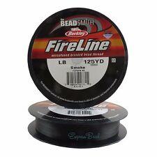 125 Yards FIRELINE Beading Thread 4-6-8-10 LB CRYSTAL/SMOKE/BLACK SATIN