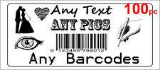 100 Personalised return address label barcode adhesive custom sticker 56x25mm