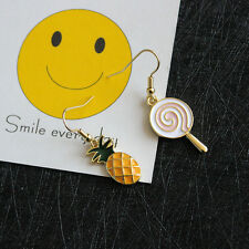 Kawaii Women Girls Enamel Lollipop Pineapple Earrings Ear Stud Lovely Jewelry
