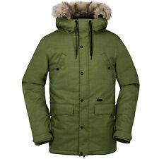 VOLCOM Mens 2017 Snowboard Snow Olive MIDTOWN INSULATED JACKET