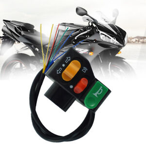 Motorcycle Multi-function Handlebar Switch DC 12V For Horn Headlight Turn Signal