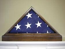 5 X 9 WALNUT & BASE FLAG DISPLAY CASE