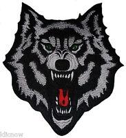 Wolf Back Patch 9 x 10 1/4 inch (23cm x 26cm) Sew on