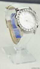 NWT Watch GUESS White Leather Waterpro Ladies New U0019L1