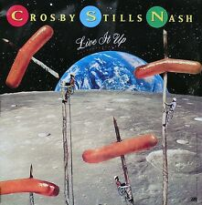 Crosby, Stills & Nash 1990 Live It Up Original Double Sided Promo Poster