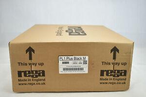Rega Planar 1 Plus turntable + built in phono stage | Matt black | Box damage
