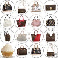 Eßbar Tortenaufleger Louis Vuitton Designer Tasche Muffin NEU Oblate Deko LV