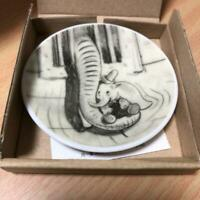 Rare Limited Art of Disney Exhibition Dumbo monochrome plate with original box