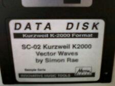 Kurzweil ~ Data Disk SC-02 Vector Waves ~  V.A.S.T. Native KRZ Programs!