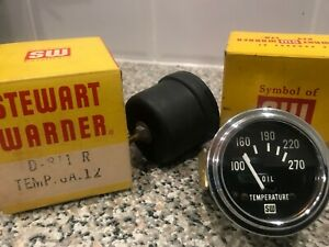 NEW SMITHS Oil temperature gauge - Stewart Warner - in box