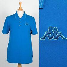 KAPPA MENS POLO T-SHIRT 90'S STYLE VINTAGE BLUE SHIRT FOOTBALL ITALIA CASUALS XL