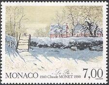 Monaco 1990 Claude Monet/Art/Painting/Artists/People/Magpie/Birds 1v (n43839)