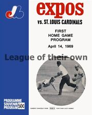 Montreal Expos 1st Home Game Franchise History Program 8 X 10 Photo