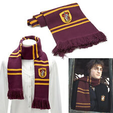 Harry Potter Gryffindor Scarf Thicken Wool Knit Warm Costume Shawl Xmas Hot